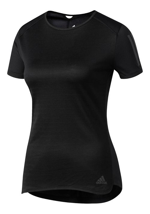 Womens adidas Response Tee Short Sleeve Technical Tops - Black L