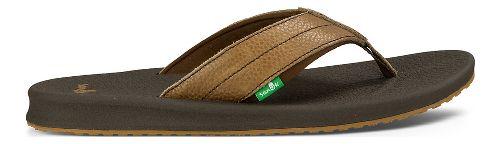 Mens Sanuk Brumeister Primo Sandals Shoe - Dark Brown 12