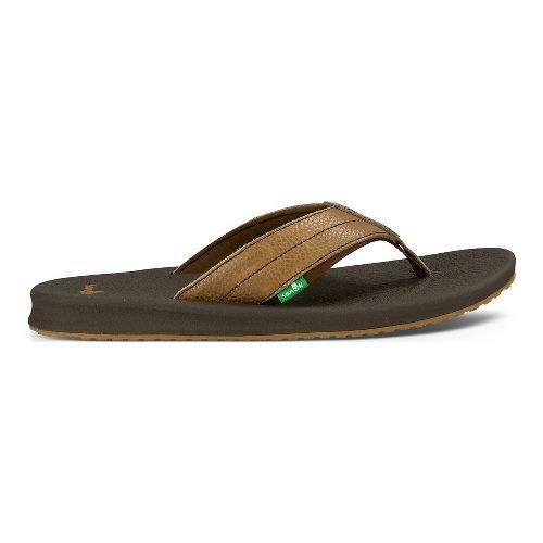 Mens Sanuk Brumeister Primo Sandals Shoe - Dark Brown 8
