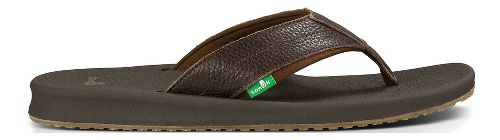 Mens Sanuk Brumeister Primo Sandals Shoe - Dark Brown 11