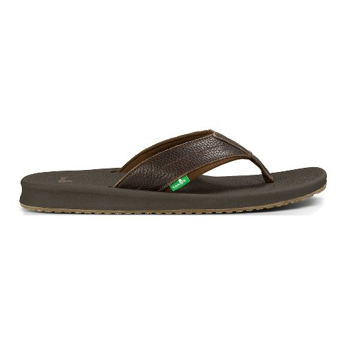 Mens Sanuk Brumeister Primo Sandals Shoe - Dark Brown 12