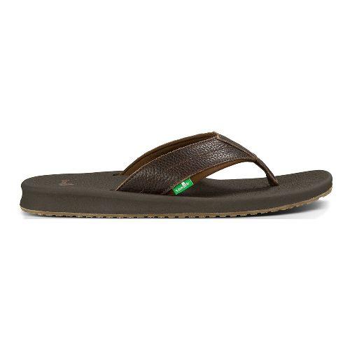 Mens Sanuk Brumeister Primo Sandals Shoe - Dark Brown 14