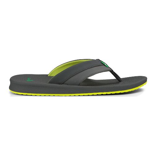 Mens Sanuk Brumeister Sandals Shoe - Black/Orange 10