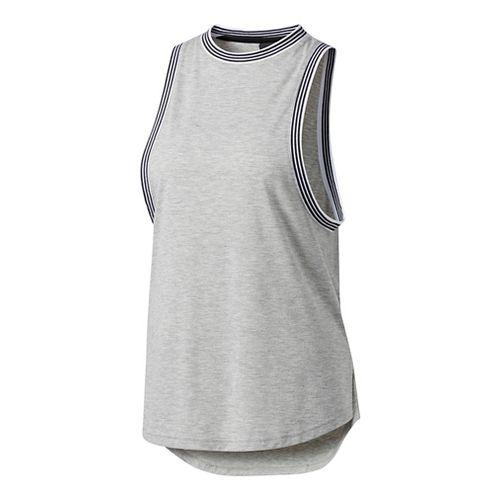 Womens Adidas Ringer Sleeveless & Tank Tops Technical Tops - Grey L