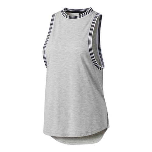 Womens Adidas Ringer Sleeveless & Tank Tops Technical Tops - Grey XXL