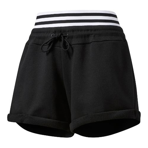Womens Adidas Roll-Up Lined Shorts - Black L