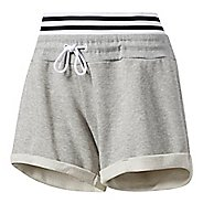 Womens Adidas Roll-Up Lined Shorts