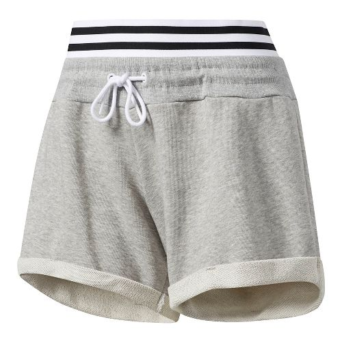 Womens Adidas Roll-Up Lined Shorts - Grey L