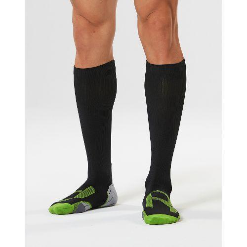 Mens 2XU Compression Socks for Injury Recovery - Black/Grey L