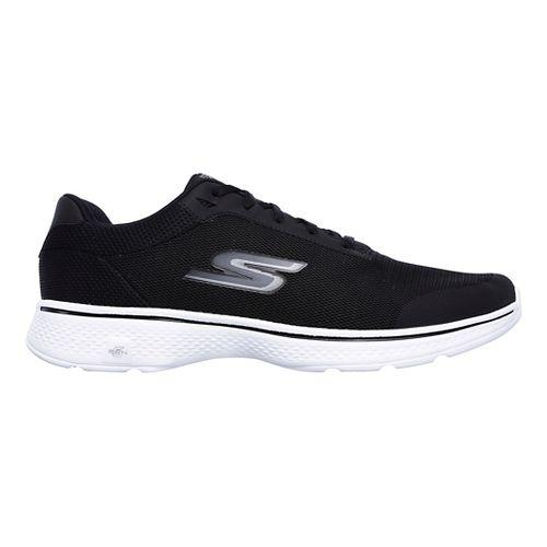 Mens Skechers GO Walk 4 Distance Casual Shoe - Black/White 7.5