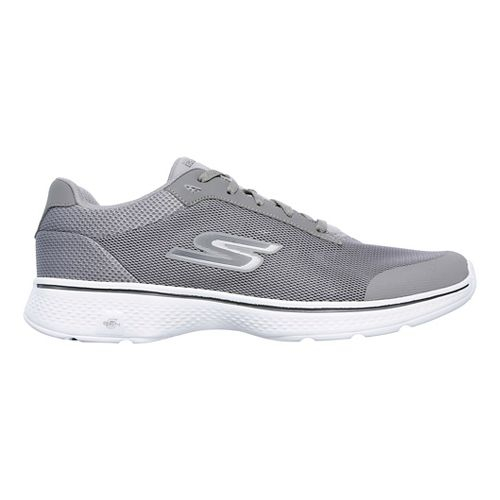 Mens Skechers GO Walk 4 Distance Casual Shoe - Grey 13