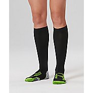 Womens 2XU Compression Socks for Injury Recovery - Black/Grey XL