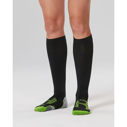 Womens 2XU Compression Socks for Injury Recovery - Black/Grey S