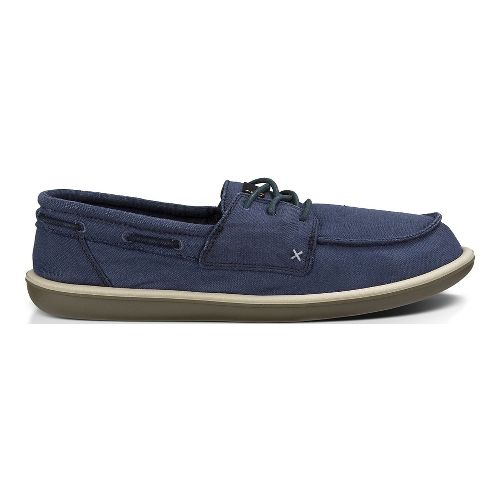 Mens Sanuk Dinghy Casual Shoe - Washed Navy 11