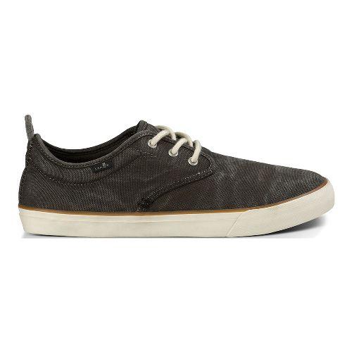 Mens Sanuk Guide Plus Washed Casual Shoe - Washed Black 14