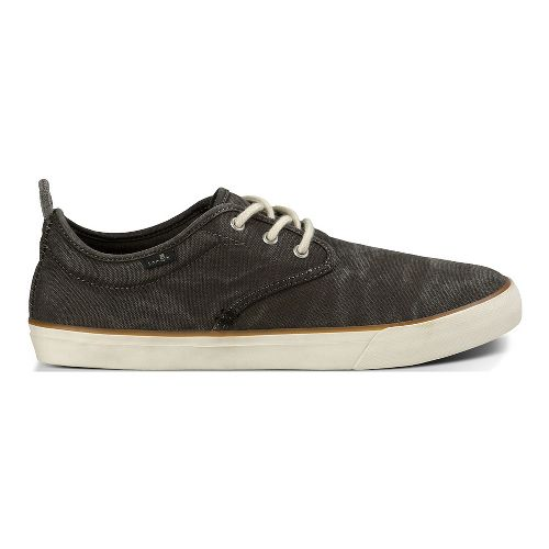 Mens Sanuk Guide Plus Washed Casual Shoe - Washed Black 8