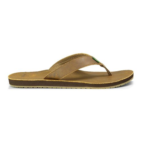 Mens Sanuk John Doe Sandals Shoe - Brown 14
