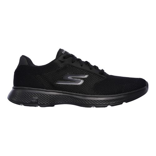 Mens Skechers GO Walk 4 Casual Shoe - Black/Grey 9.5
