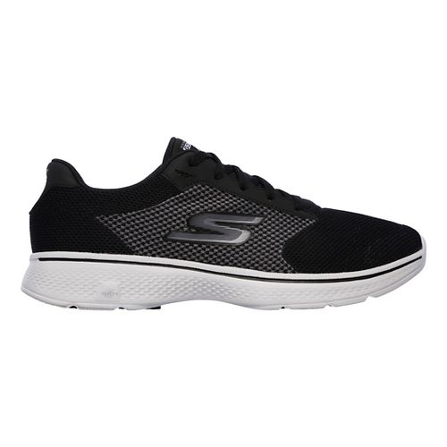 Mens Skechers GO Walk 4 Casual Shoe - Black/Grey 11.5