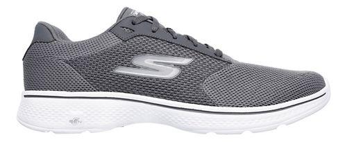 Mens Skechers GO Walk 4 Casual Shoe - Charcoal 10