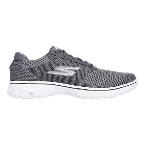 Mens Skechers GO Walk 4 Casual Shoe - Charcoal 11.5