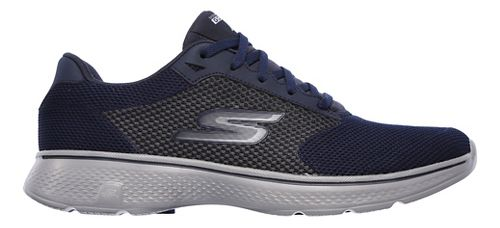 Mens Skechers GO Walk 4 Casual Shoe - Navy/Grey 12