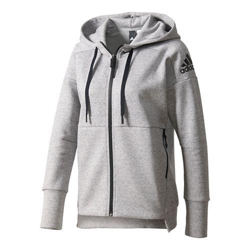 Womens Adidas Stadium Hoodie Casual Jackets - Heather Grey M