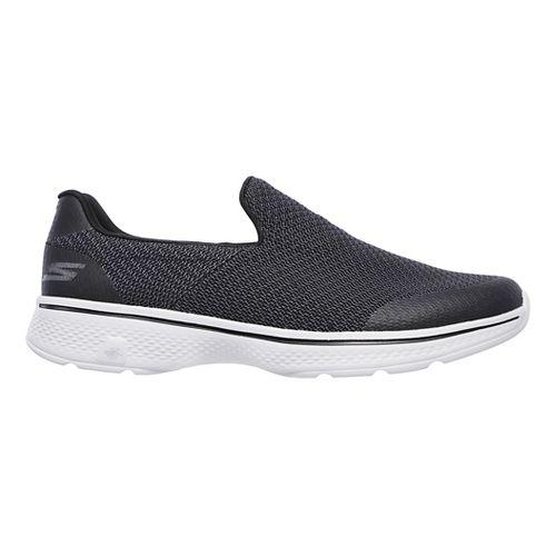 Mens Skechers GO Walk 4 Expert Casual Shoe - Black/Grey 10.5