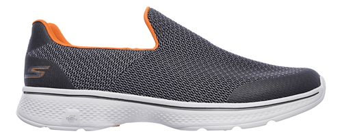 Mens Skechers GO Walk 4 Expert Casual Shoe - Charcoal/Orange 8