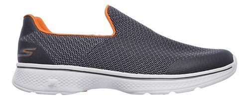 Mens Skechers GO Walk 4 Expert Casual Shoe - Charcoal/Orange 8.5