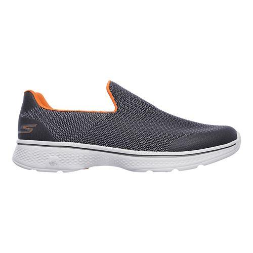 Mens Skechers GO Walk 4 Expert Casual Shoe - Charcoal/Orange 9.5