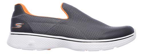 Mens Skechers GO Walk 4 Incredible Casual Shoe - Charcoal/Orange 14
