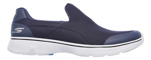 Mens Skechers GO Walk 4 Incredible Casual Shoe - Navy/Grey 9.5