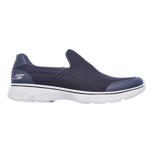 Mens Skechers GO Walk 4 Incredible Casual Shoe - Navy/Grey 7.5