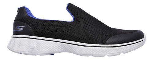 Mens Skechers GO Walk 4 Incredible Casual Shoe - Black/Blue 11
