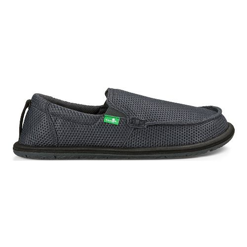 Mens Sanuk Trailgater Casual Shoe - Charcoal Mesh 10