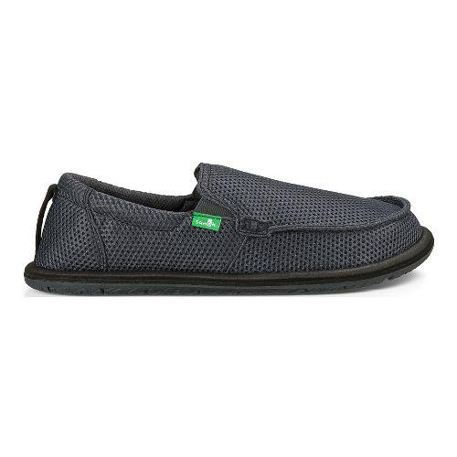 Mens Sanuk Trailgater Casual Shoe - Charcoal Mesh 9