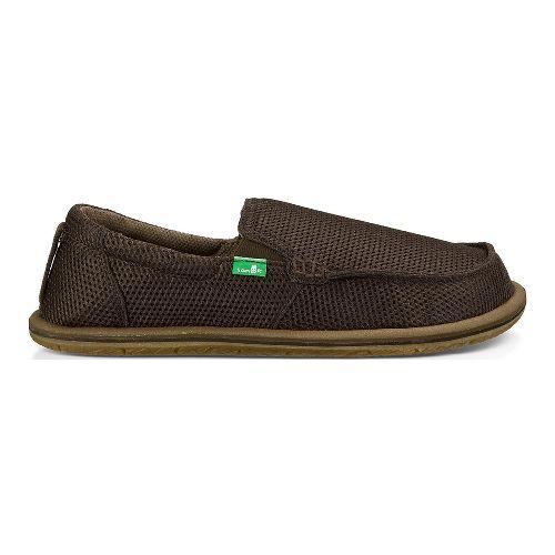 Mens Sanuk Trailgater Casual Shoe - Brown Mesh 12