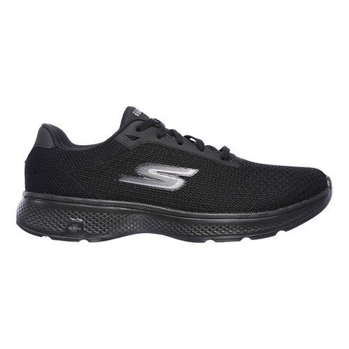 Mens Skechers GO Walk 4 Noble Casual Shoe - Black/Grey 9.5