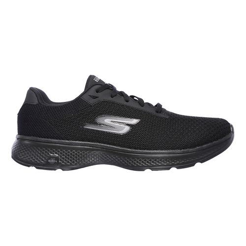 Mens Skechers GO Walk 4 Noble Casual Shoe - Black/Grey 12