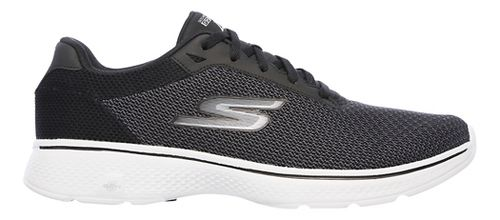 Mens Skechers GO Walk 4 Noble Casual Shoe - Black/Grey 10.5