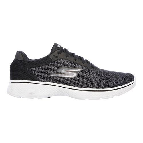 Mens Skechers GO Walk 4 Noble Casual Shoe - Black/Grey 8