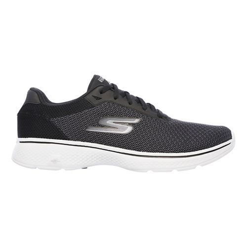 Mens Skechers GO Walk 4 Noble Casual Shoe - Black/Grey 9.5