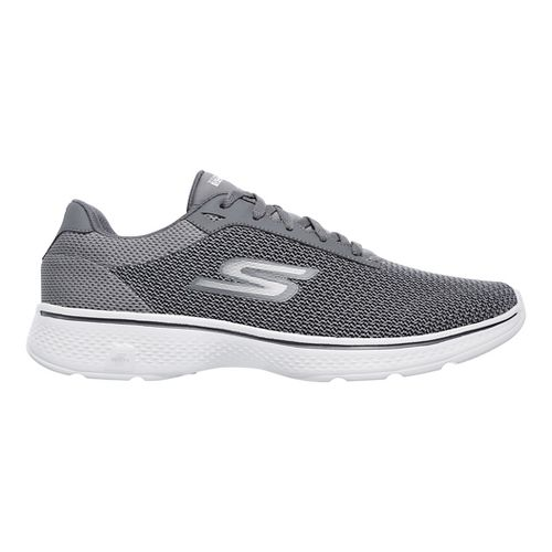 Mens Skechers GO Walk 4 Noble Casual Shoe - Black/Grey 11.5