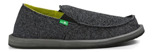 Mens Sanuk Vagabond Mesh Casual Shoe - Black 12