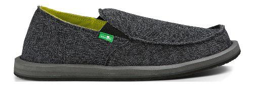 Mens Sanuk Vagabond Mesh Casual Shoe - Black 9