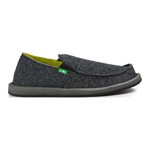 Mens Sanuk Vagabond Mesh Casual Shoe - Black 10