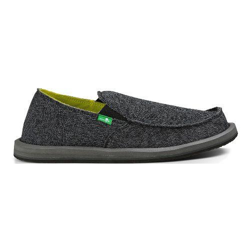 Mens Sanuk Vagabond Mesh Casual Shoe - Black 11