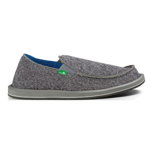 Mens Sanuk Vagabond Mesh Casual Shoe - Grey 9