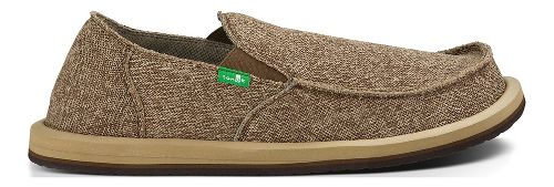 Mens Sanuk Vagabond Mesh Casual Shoe - Brown 10
